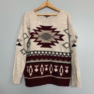 AMERICAN EAGLE | chunky oversized Aztec sweater M